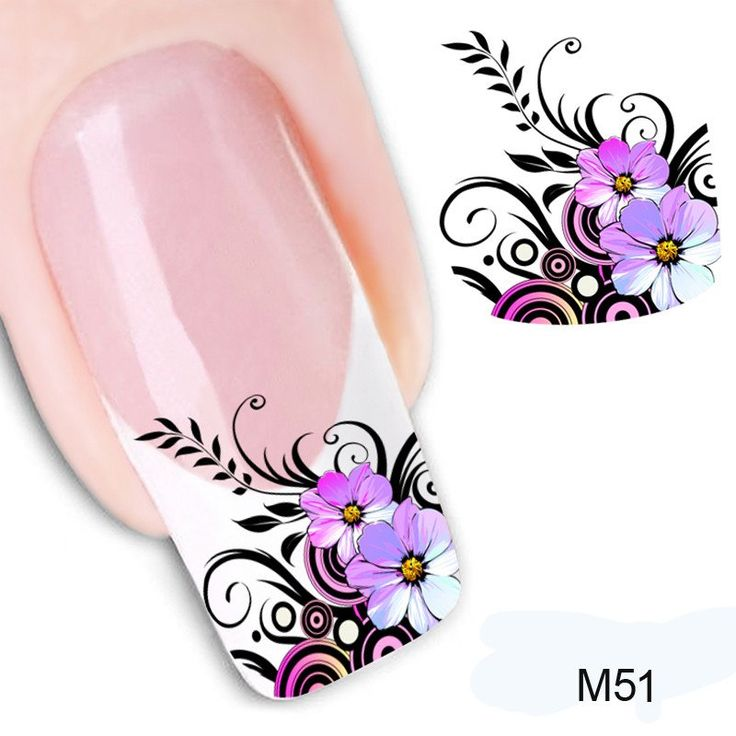 1Pcs Women DIY Manicure Art Water Transfer Sticker 3D-Sticker For Nail Design On Your Nails Decals Sticker Nail Art Decorations