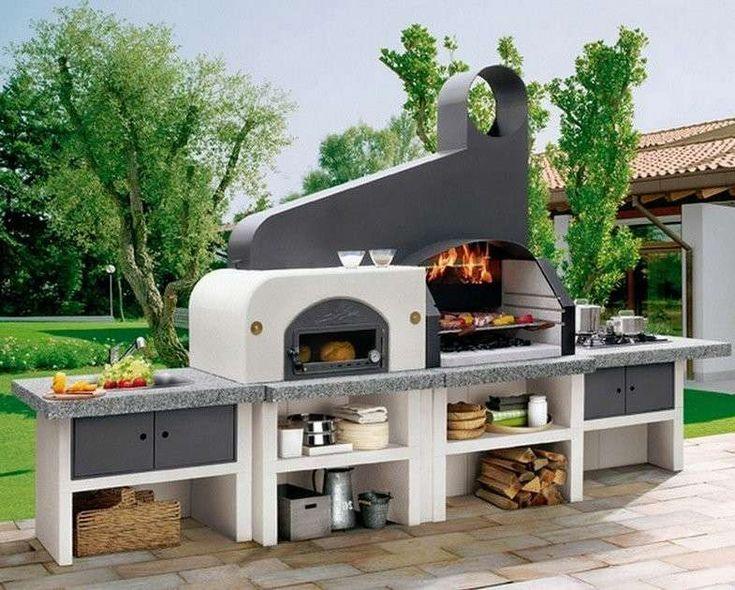 Barbecue in muratura - Un barbecue in muratura completo