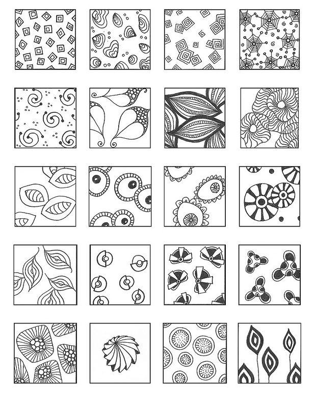 600 новых узоров для рисования. Часть 2 - ZenArt, Zentangle, Doodling — уникальные направления в современном искусстве