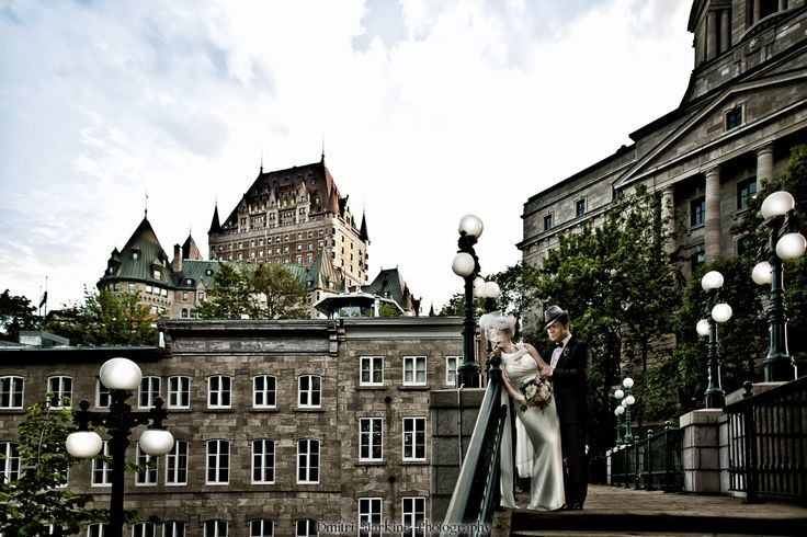 Fairmont Le Chateau Frontenac wedding in Old Quebec. Le Chateau Frontenac is one of the most beautiful hotels I've had privilege to photograph   #OldQuebec  #FairmontLeChateau #LeChateauFrontenac #Quebecwedding  #hollywoodweddings #bestweddingphotographers #Quebecweddingphotographers #DmitriMarkinephotography  #amazingweddingpictures  #luxurywedding #edgyweddingphotos #rfglwedding