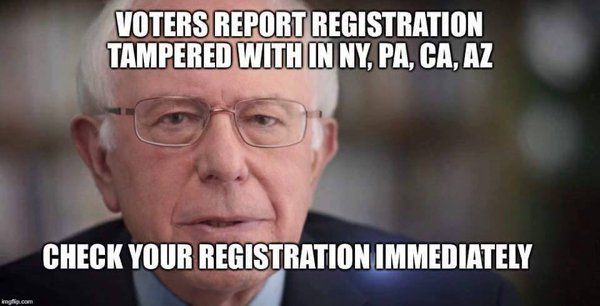 URGENT check your New York Voter Registration at canivote.org IS YOUR BALLOT SWITCHED? #NewYorkPrimary #NewYorkersForBernie #NewYorkForBernie #NYPrimary #Bernie2016 #FeeltheBern #BernieSanders2016, canivote.org