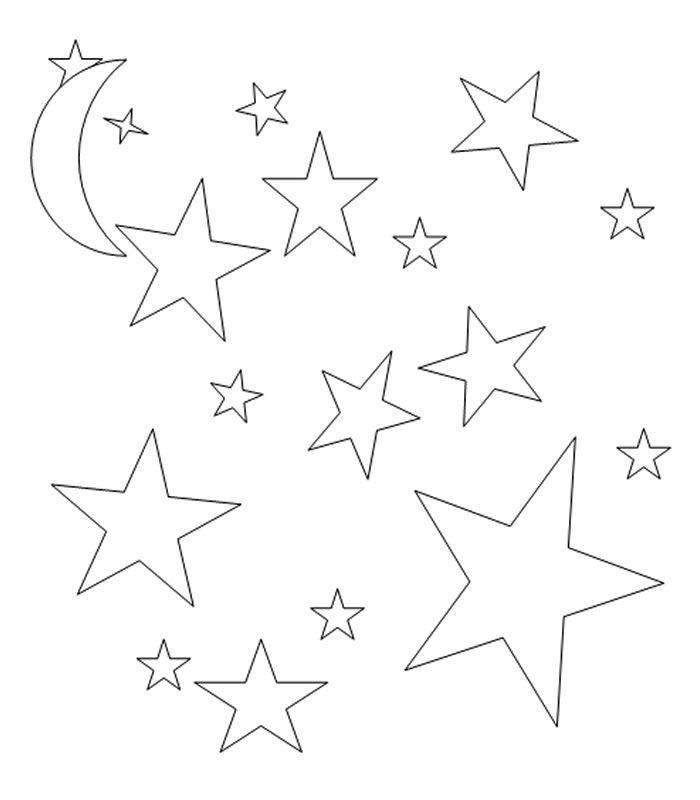 Звезды в космосе картинка раскраска