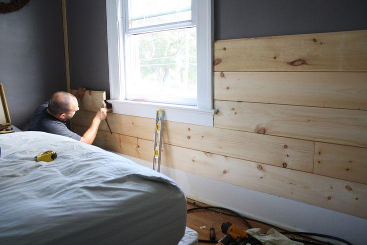 Installing Shiplap Siding Our Home Pinterest Shiplap Siding Hardwood Floors And Panelling