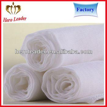 Oekotex 100 standard super absorption organic muslin fabric