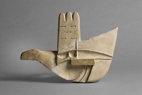 Maquette of the Open Hand monument — Le Corbusier, circa 1956—1959