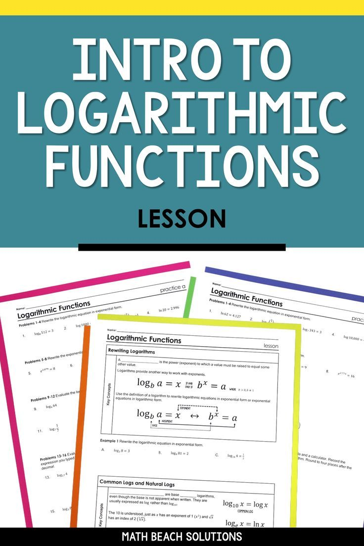 Intro To Logarithmic Functions Lesson In 2020 Algebra Lesson Plans Algebra Lessons High School Algebra