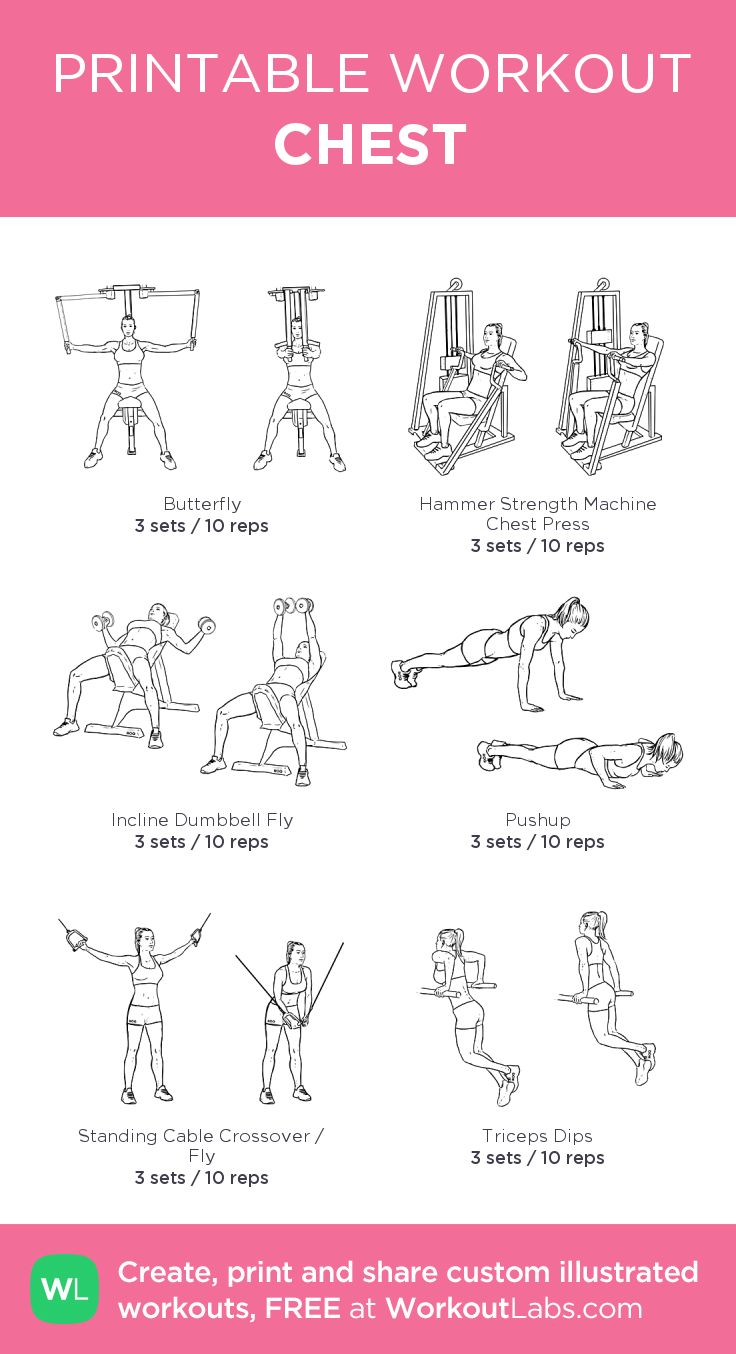 CHEST : my custom printable workout by @WorkoutLabs #workoutlabs #customworkout