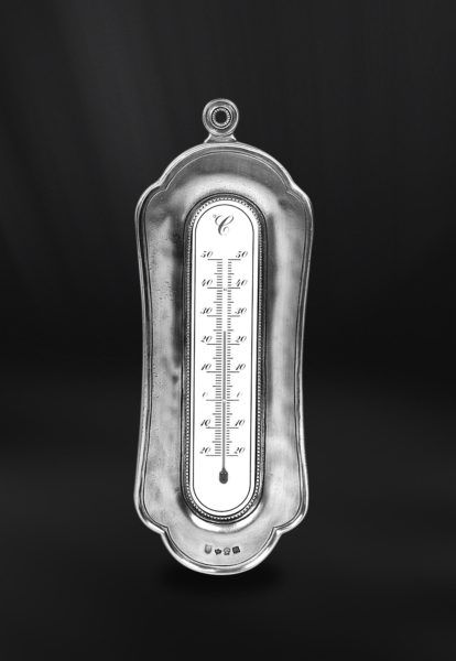 Pewter Thermometer - Height: 24 cm (9,4″) - #pewter #wall #thermometer #peltro #termometro #parete #zinn #wand #thermometer #étain #etain #thermomètre #mural #peltre #tinn #олово #оловянный #gifts #giftware #home #housewares #homewares #decor #design #bottega #peltro #GT #italian #handmade #made #italy #artisans #craftsmanship #craftsman #primitive #vintage #antique
