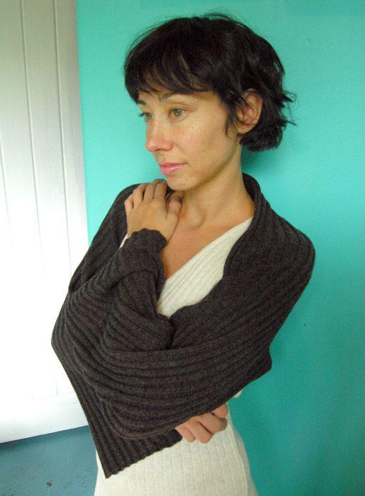knitted rib shrug - luna lounge