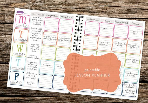 Printable Lesson Planner Kit - Great for teachers, students, or homeschooling parents (Now includes monthly calendars & planning pages!)