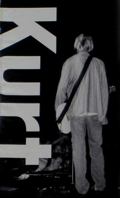 Kurt Cobain (Seattle Art Museum exhibit banner)