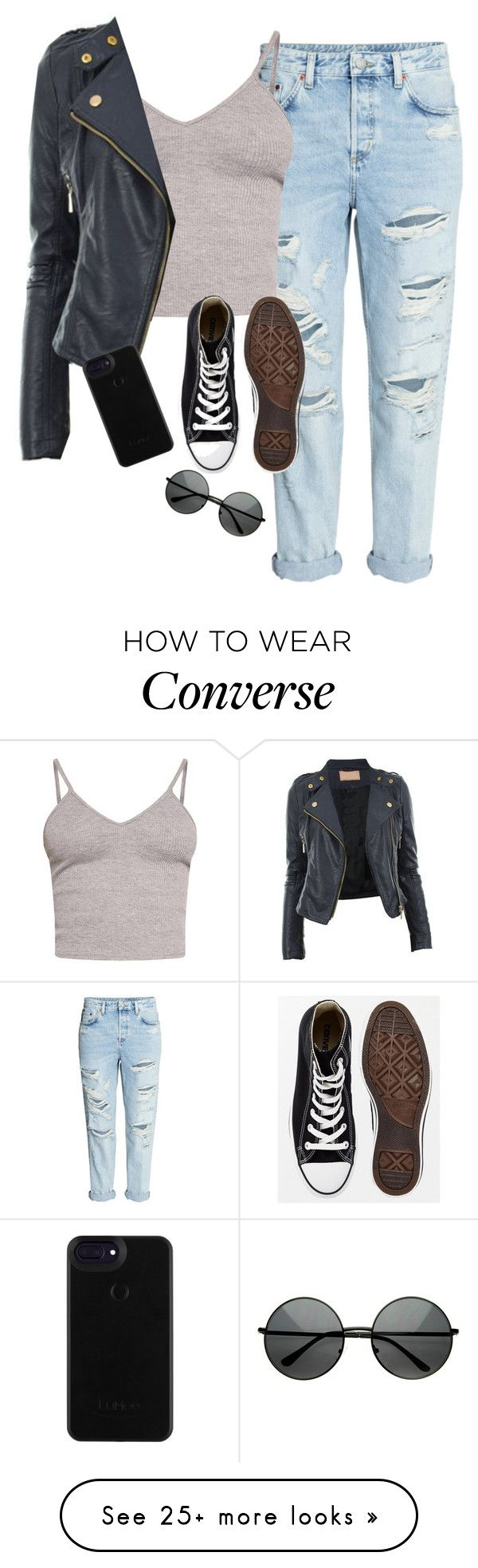 """Very cute, yet simple 8"" by lollypopz951 on Polyvore featuring BasicGrey, Converse and ZeroUV"