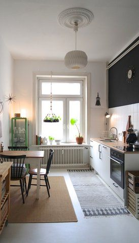 NewKitchen ☘ ● - Foto von Mitglied MiMaMeise #solebich #interior #kitchen #80s #table #chair #rug #oven #lamp #einrichtung #inneneinrichtung #Küche #stuhl #tisch #Ofen #Lampe #80er