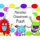 Back to School Monster Classroom Pack  This classroom pack is full of monsters and fun! It is a great addition to your classroom.    Table signs th...
