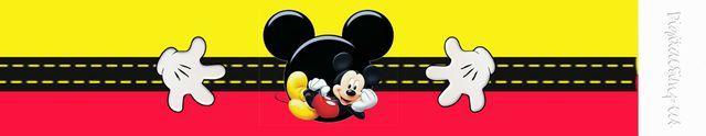 Kit de Mickey en Rojo y Amarillo para Imprimir Gratis.   OH MY FIESTA!   Bloglovin'
