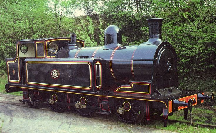 """Taff Vale Railway O1 class No 28 """"Gordon"""" - Of the 0-6-2T mixed traffic class, only one survives today, No.28. It is the last Welsh-build standard gauge locomotive. No.28 began its TVR career working the mineral and coal trains from collieries to port. By 1922 when the Great Western Railway had taken control, it had run 483,189 miles, and by 1923 was given a major overhaul, receiving a new boiler from the West Yard Works."""