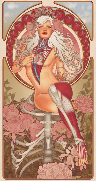 FFO Art: Nouveau Meets Anatomy: tumblr_mwdg6lnC5J1sec6tao1_500.jpg http://www.juxtapoz.com/erotica/ffo-art-nouveau-meets-anatomy