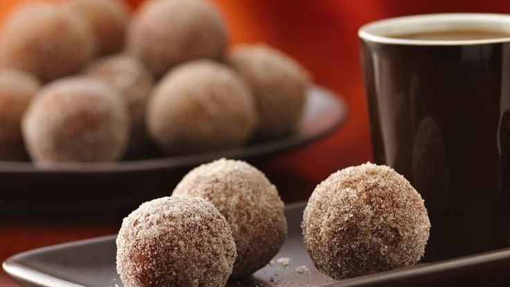 Rolled in cinnamon-sugar, these doughnut holes are a real breakfast treat! They're easy to make with Bisquick® Gluten Free mix.