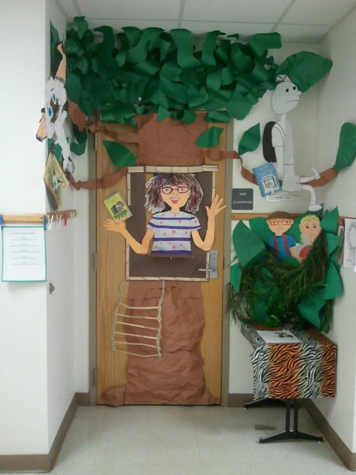 Tree Classroom Door Decoration ~ Best magic treehouse theme images on pinterest