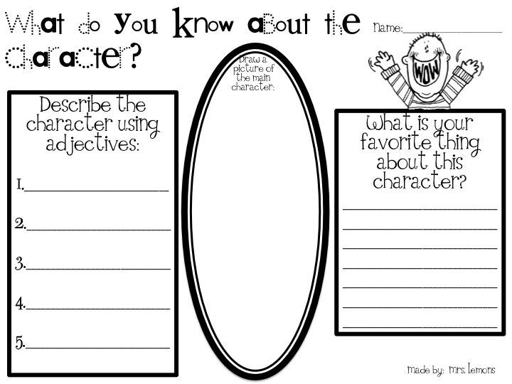 Character education worksheets 4th grade