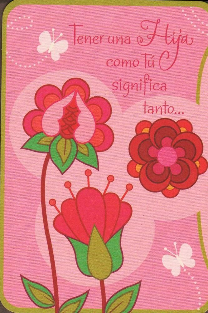 Spanish Greeting Card Birthday Having A Daughter Like You Means So Much Hallmark BirthdayAdult