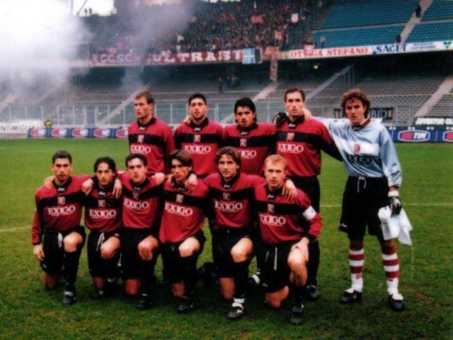 Juventus - Salernitana 3-0. Serie A 1998-99. Monaco, Fusco, Gattuso, Bolic, Balli; Di Vaio, Di Michele, Chianese, Vannucchi, Del Grosso, Breda