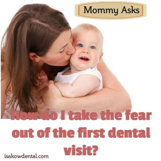 How do I take the fear out of the first dental visit? Your child should visit a dental professional by age 1. You can make the first visit to the dental office enjoyable and positive. Before the visit, tell your child that someone will look at and clean his or her teeth. Allow the dentist and other members of the dental staff to introduce other dental health procedures. Your dental professional will examine your child's mouth for early signs of cavities or other dental health problems. He…