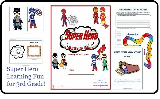 Winter Break Activity Unit Giveaway! Win a free copy of my Super Hero Activity Unit (perfect for 3rd grade).
