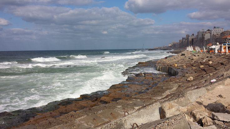 Alexandria Corniche view (Egypt)