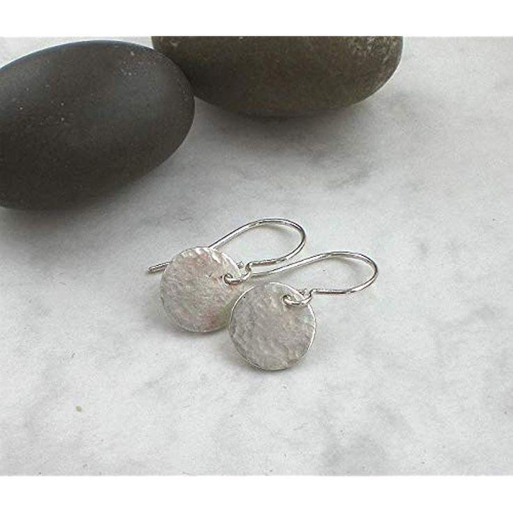 Kleine Ohrringe 925 Silber Silberplättchen Ohrhä…