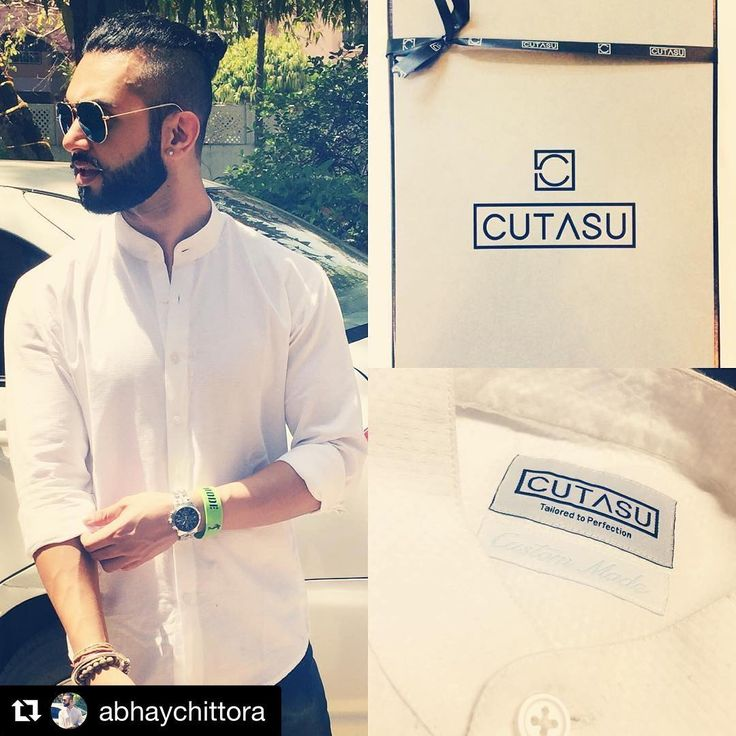 #Repost @abhaychittora with @repostapp ・・・ A fitting white shirt for men is like a LBD for women ... you can never have too many 👔👌🏻 .... thnx #naman250292 for this custom fitting shirt ... give it a try ... awesome buy #rayban #villageday #off to khandar #manbun #beard #stache  #tailored #mensfashion #menswear #dapperman #ootd #customshirts #mensstyle #instafashion
