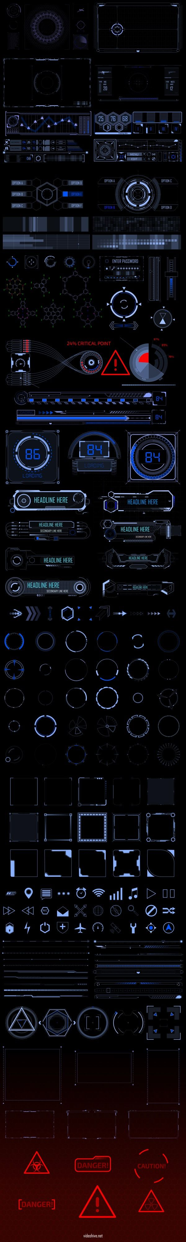 The INTERCEPTOR INFOGRAPHIC HUD PACK is made to  help you in making modern and hi-tech  openers, spy movies, futuristic trailers,  match moving videos and many others purposes. This package consist...