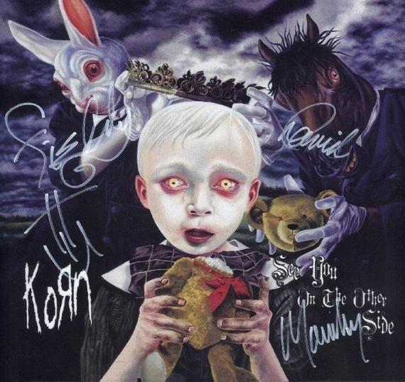 Korn Autographed Lp See You On The Other Side Korn Album Art Rap Metal