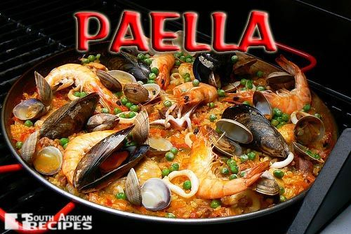 South African Recipes PAELLA (Beste Suid-Afikaanse Braai-resepte, pg. 68 – Best South African BBQ recipes)