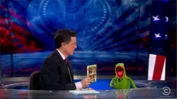 Colbert and Kermit gif