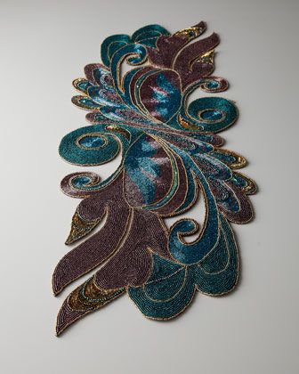 """""""Imperial Peacock"""" Runner - Horchow"""