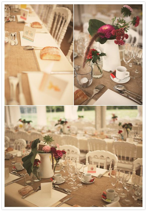 French Country Wedding Decorations Were Kept Simple All DIY, In