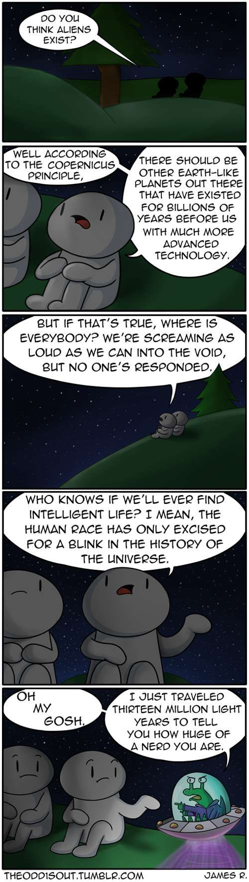 Theodd1sout :: Do You Think Aliens Exist?   Tapastic Comics - image 1