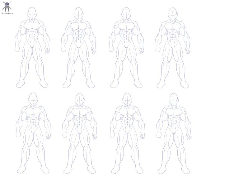male anime drawing template 12139 movieweb