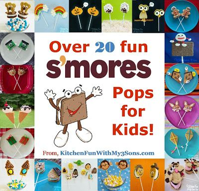 Kitchen Fun With My 3 Sons: 20+ of our S'mores Pops...Happy National S'mores Day!!