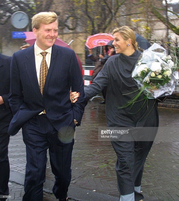 Dutch Crown Prince Willem Alexander and his fiance Maxima Zorreguieta leave the Raad van State after their visit December 5, 2001 to the highest advisory board of the Dutch Government in The Hague, the Netherlands. Maxima is getting familiar with government bodies, with less than 2 months to go for her wedding with Willem Alexander on February 2, 2002.