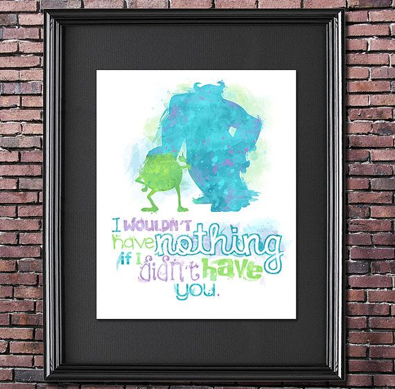 Mike and Sulley Monsters Inc. 8x10 Poster - DIGITAL DOWNLOAD