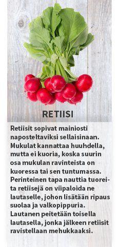 Retiisi Sesonkikasvikset viikolle 19-20 #sesonkikasvikset #satokausikalenteri #kauppahalli24 #persikka #nektariini #retiisi #parsa #raparperi #keräkaali