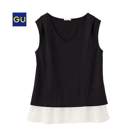 (GU)レイヤードT(ノースリーブ) - GU ジーユー