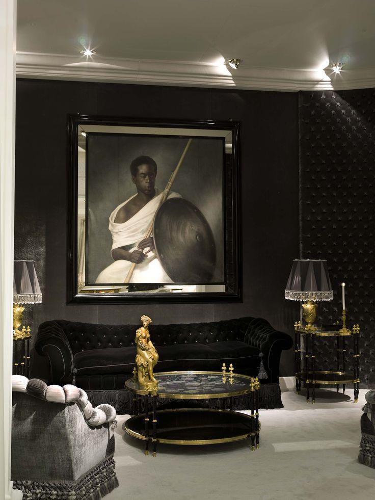 Dark interior with classic furnitures dark and seductive for Classic house interior
