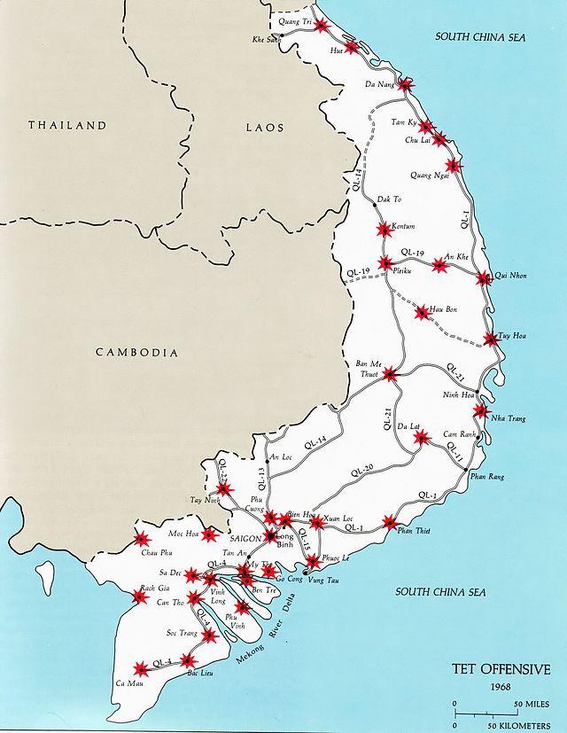 Best Vietnam War Tet Offensive Images On Pinterest South - Change map of 1968 us