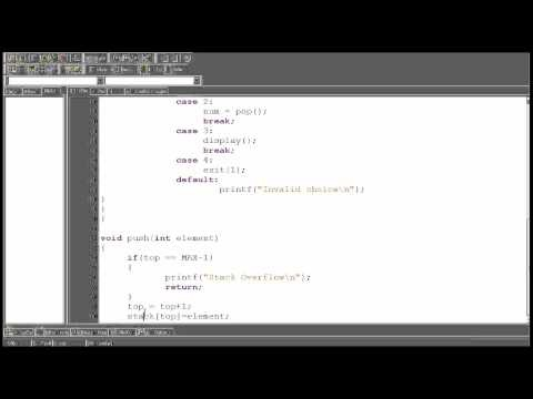 Data Structure tutorial 2.2 : Stack using array Push Function