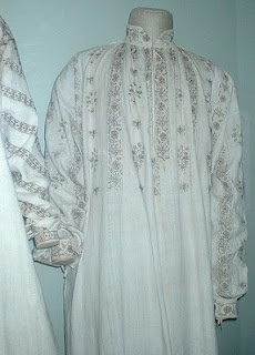 Rare surviving Tudor chemise, Museum of Costume in Bath.