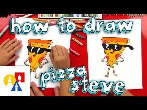 How To Draw Pizza Steve - Art for Kids Hub