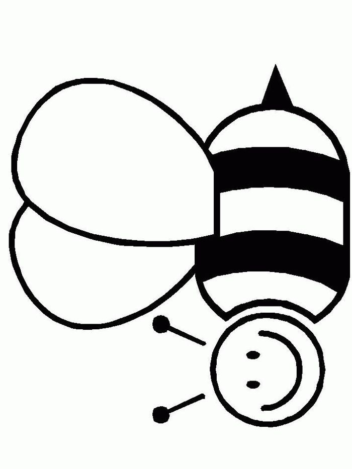 Bee Clip Art For Attack Welcoming New Beehives Free Printable Coloring PagesColoring